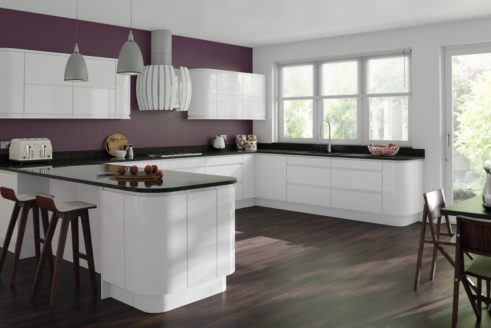 contemporary white gloss kitchen - Modern House