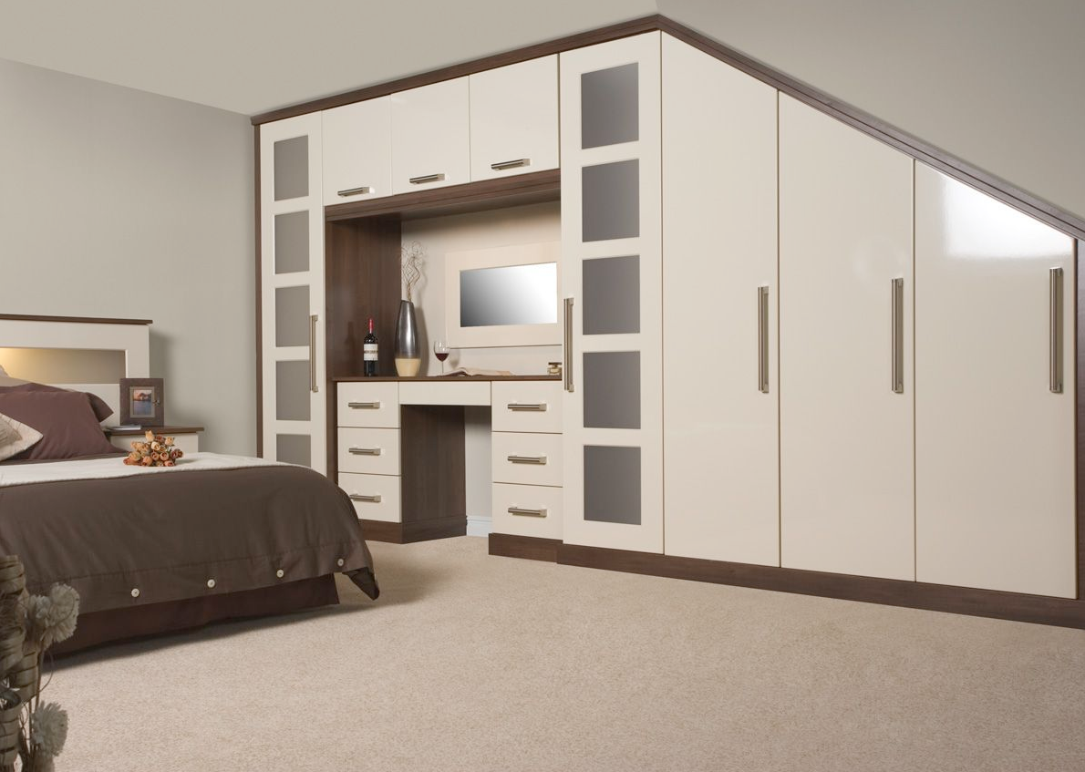 Lumi Cream Gloss Fitted Bedroom Proline Cabinets Ltd