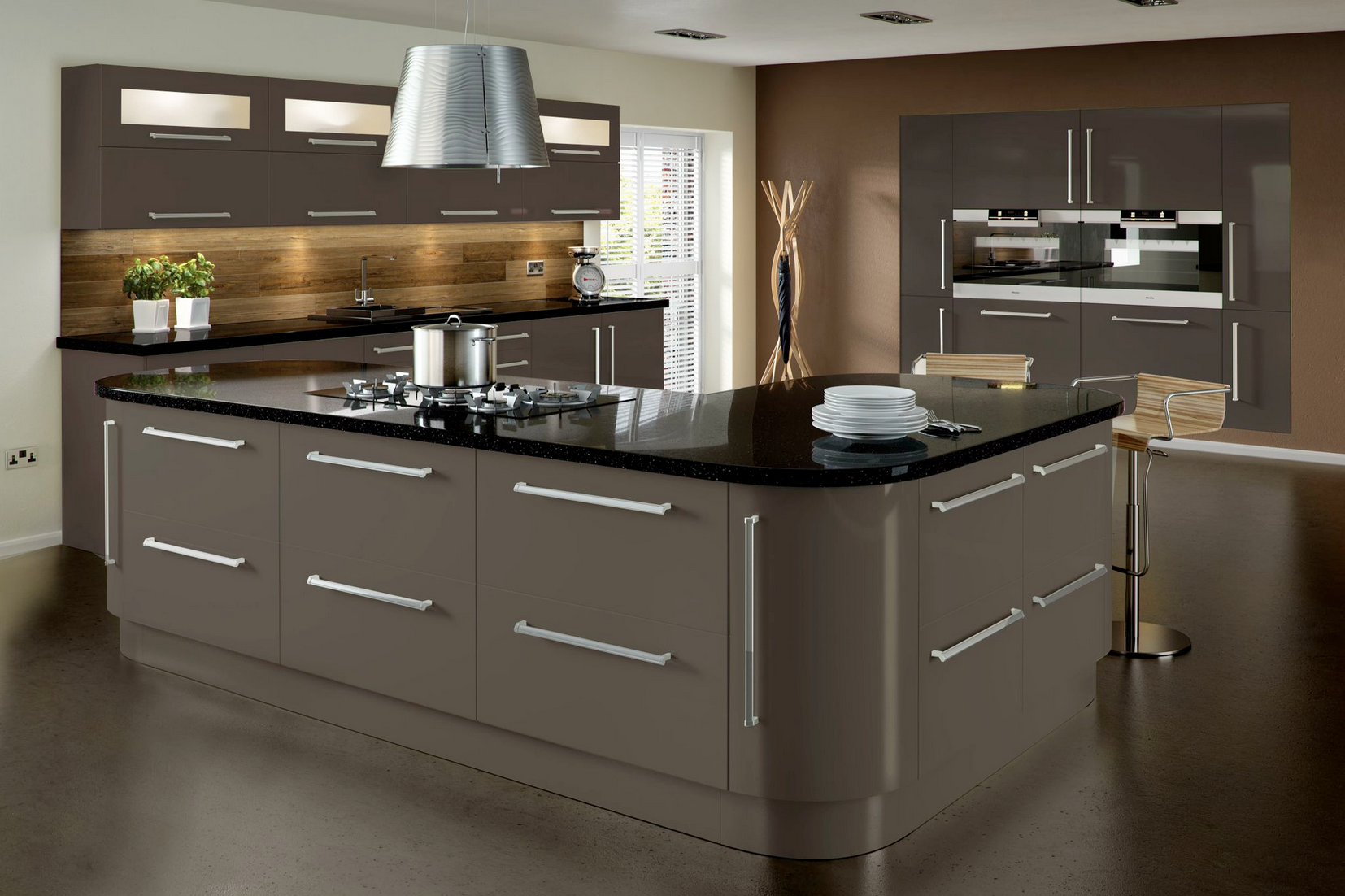 Modern Decoration Grey Painted Kitchen Cabinets