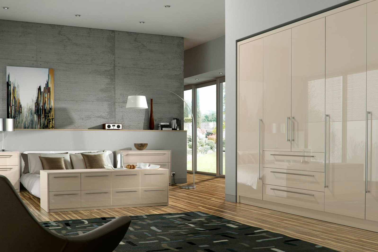 Odyssey cream gloss bedroom furniture proline cabinets ltd Bedrooms furniture