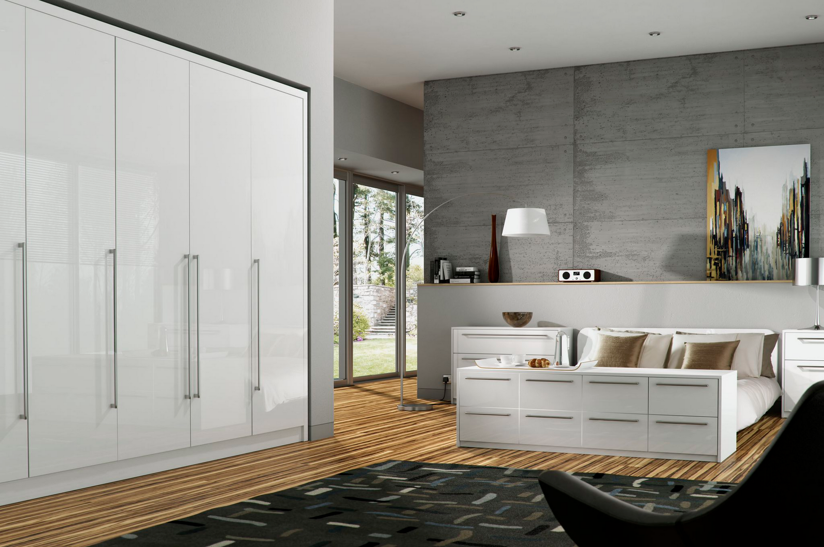 Odyssey White Gloss Bedroom Furniture Proline Cabinets