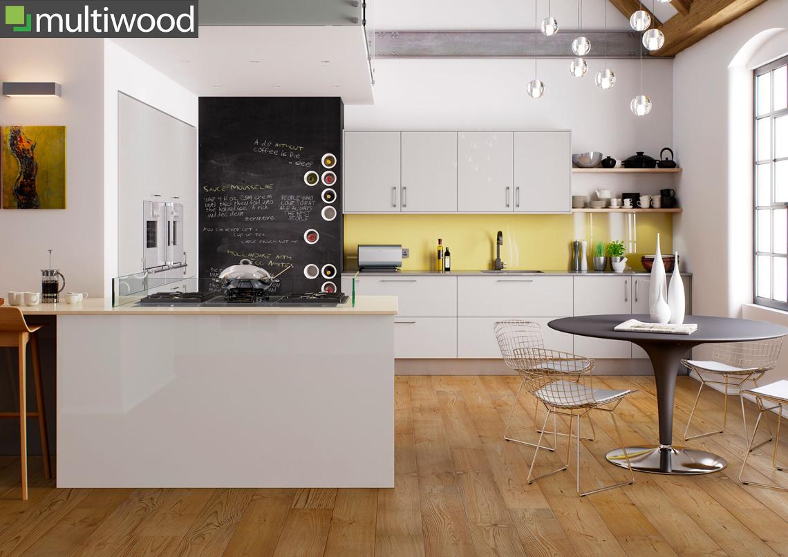 Multiwood Haddington High Gloss Grey Kitchen