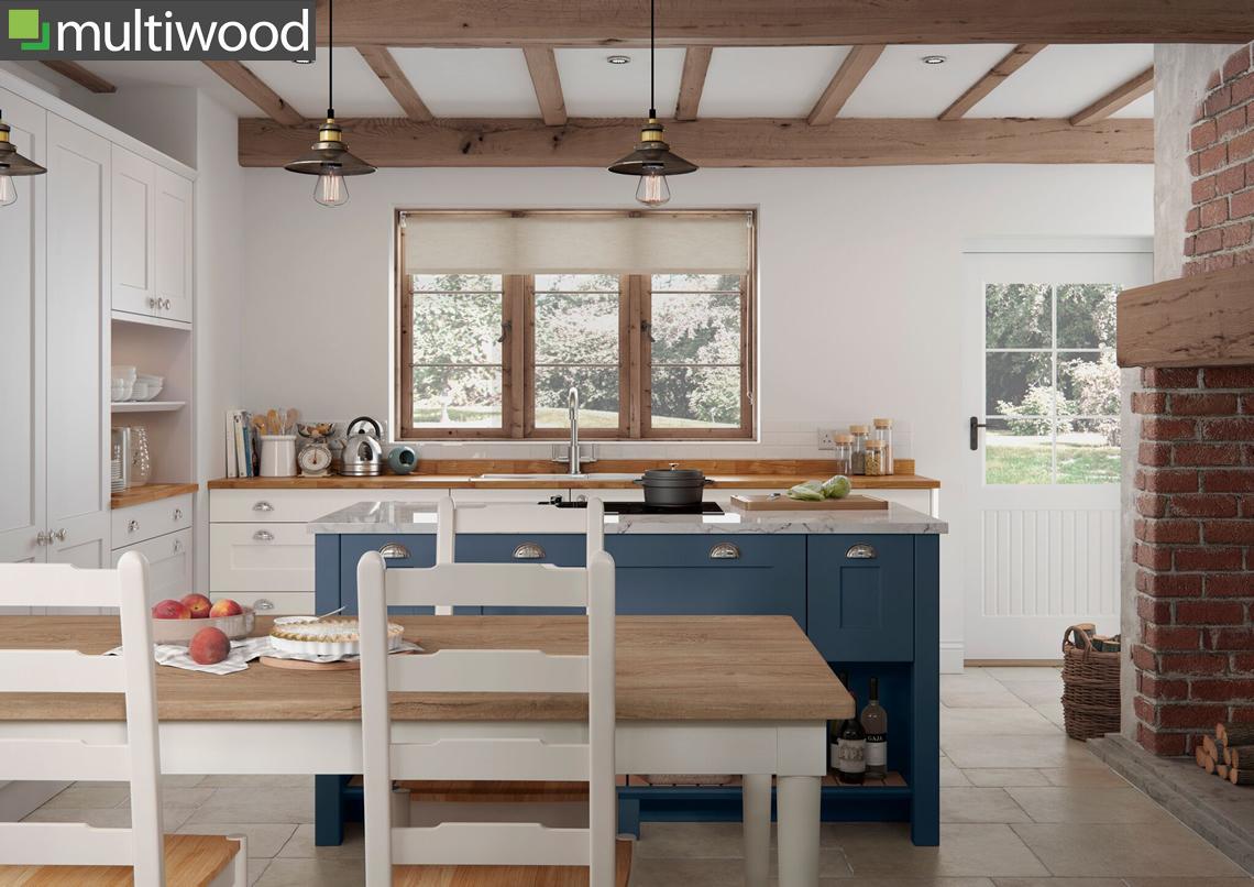 Multiwood Hartside Cottage & Dark Blue Kitchen
