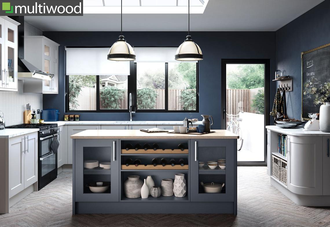 Multiwood Hartside Light Grey Kitchen