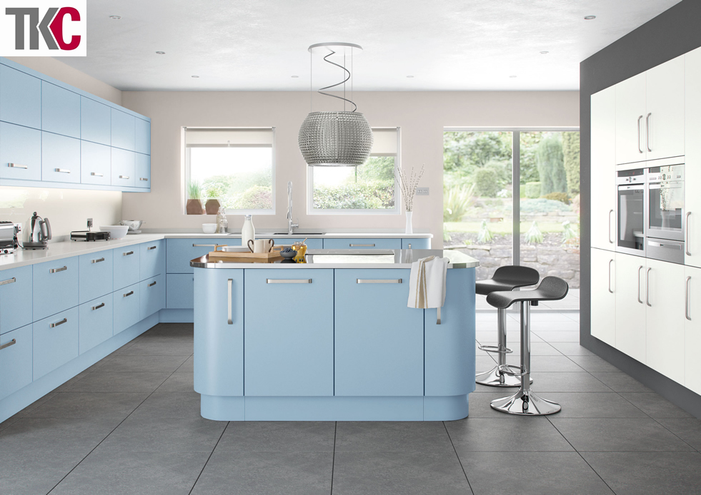 TKC Imola Hand Painted Blue Kitchen