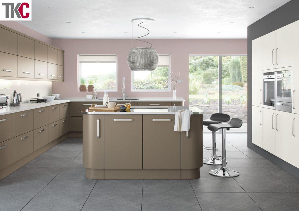 TKC Imola Hand Painted Brown Grey Kitchen