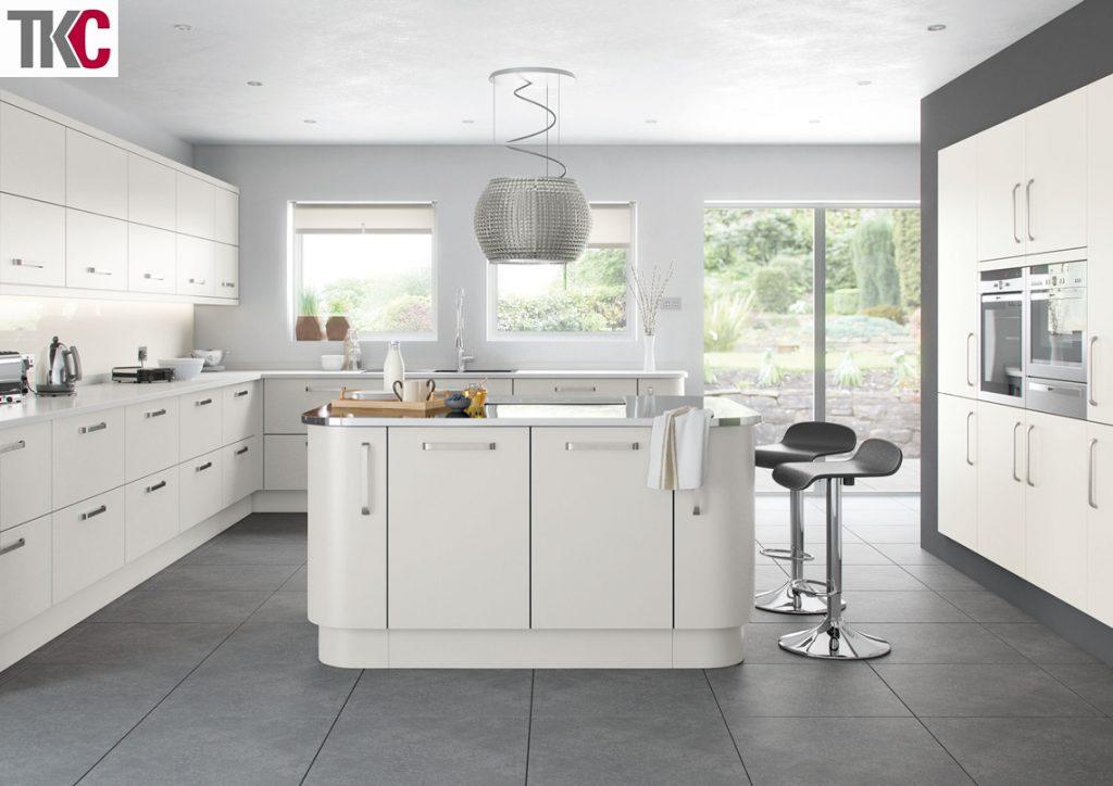 TKC Imola Hand Painted Light Grey Kitchen