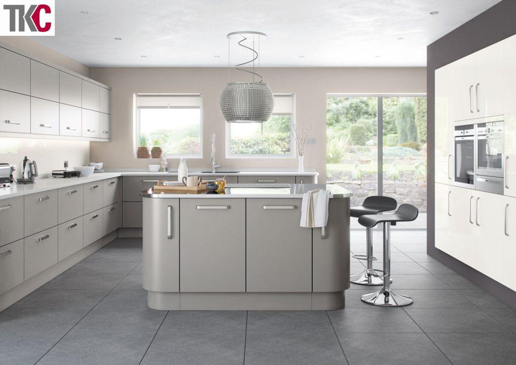 TKC Imola Hand Painted Silver Grey Kitchen