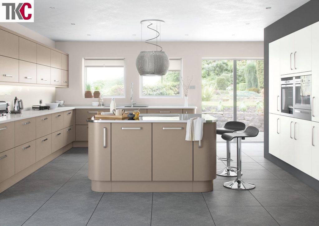 TKC Imola Hand Painted Stone Grey Kitchen