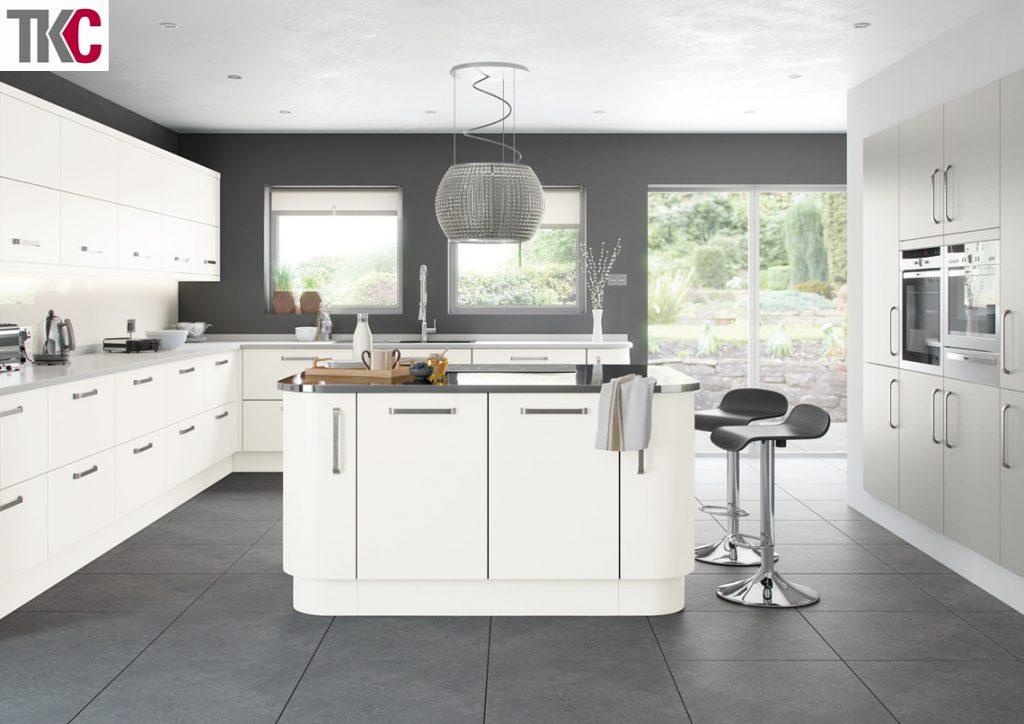 TKC Imola Hand Painted Super White Kitchen