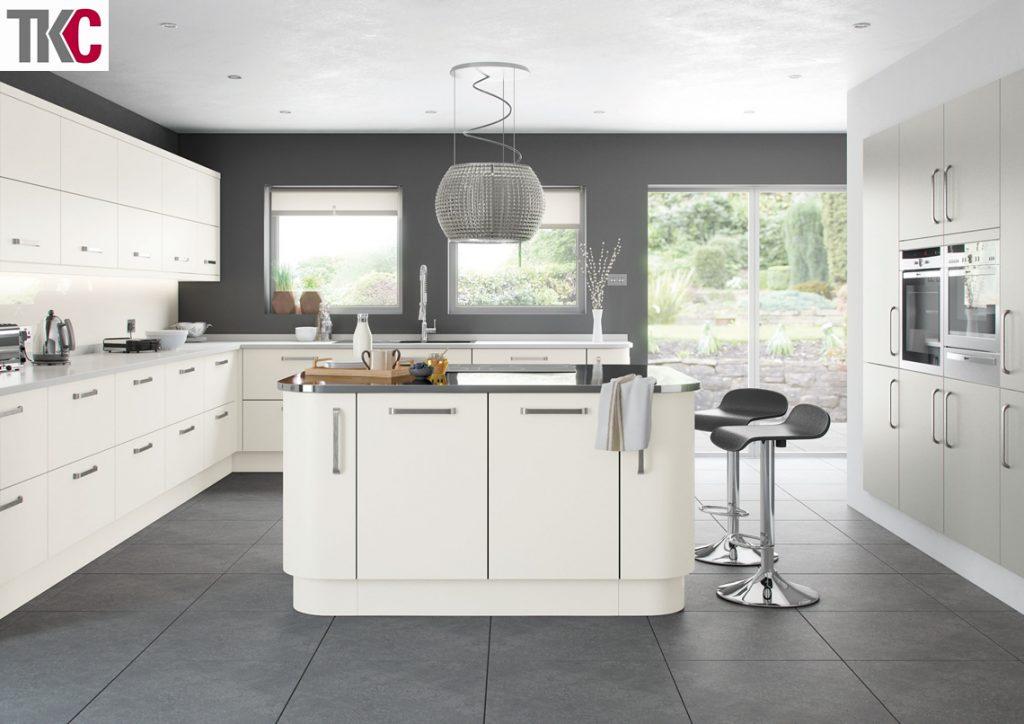 TKC Imola Hand Painted White Kitchen