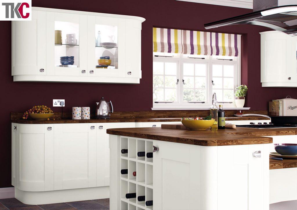 TKC Richmond Hand Painted Super White Kitchen