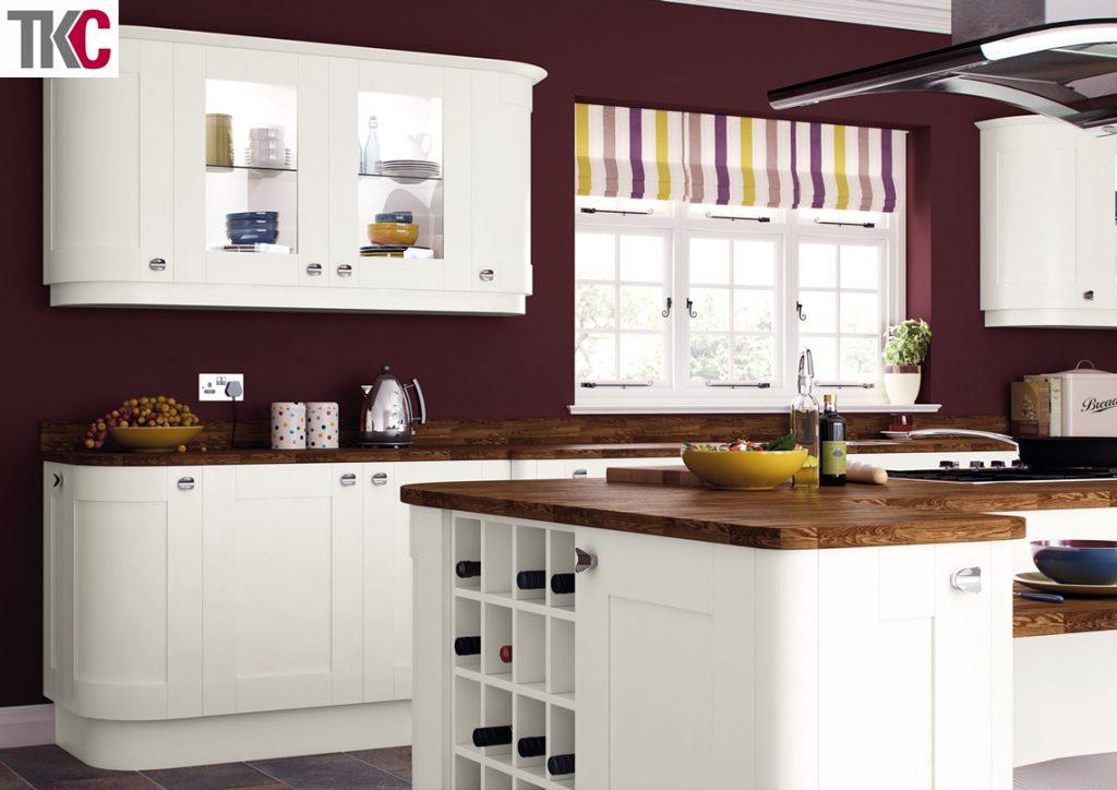 TKC Richmond Hand Painted White Kitchen