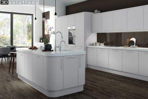 Trademouldings Aura Dove Grey Kitchen