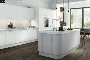 Trademouldings Aura White Kitchen