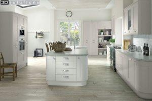 Trademouldings Boston Cashmere White Kitchen