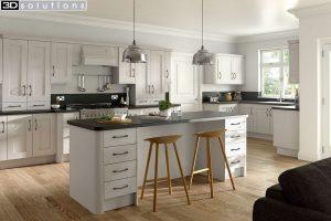 Trademouldings Buckingham Cashmere Kitchen