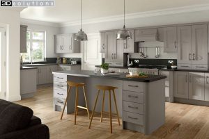 Trademouldings Buckingham Stone Grey Kitchen
