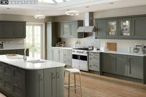 Trademouldings Gresham Olive Kitchen