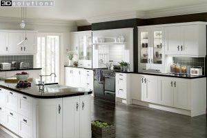 Trademouldings Gresham White Kitchen