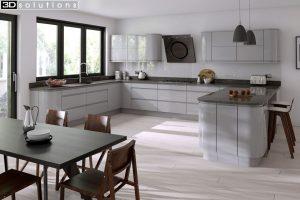 Trademouldings Larissa Gloss Dove Grey Gloss Kitchens