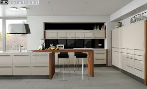 Trademouldings Odyssey Cream Gloss Kitchen