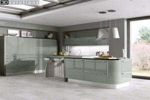 Trademouldings Odyssey Dakar Gloss Kitchen