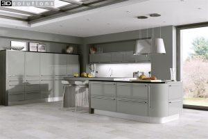 Trademouldings Odyssey Stone Grey Gloss Kitchen