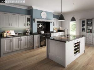 Trademouldings Portland Dove Grey Kitchen